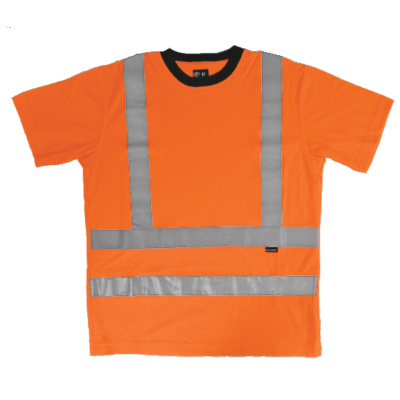 T-SHIRT HV KL. 3 ORANGE/SVART