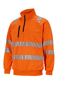 COLLEGEGENSER MED ZIP KL. 2/3 ORANGE