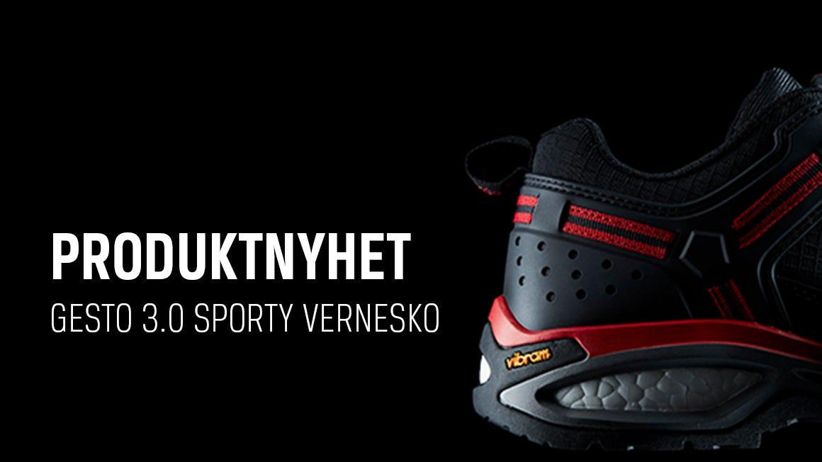 Nyhet! Gesto 3.0 sporty vernesko er nå på lager