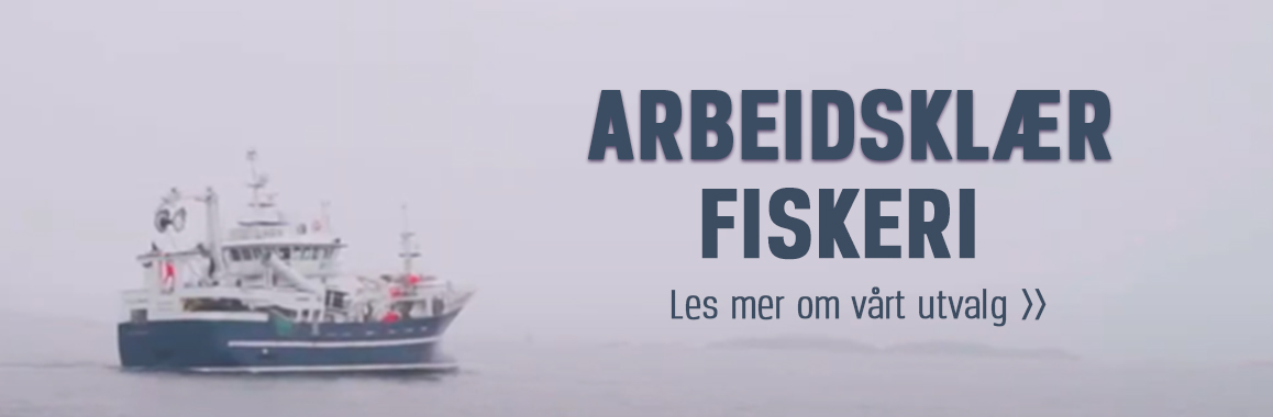Vi har arbeidsklær til fiskeri