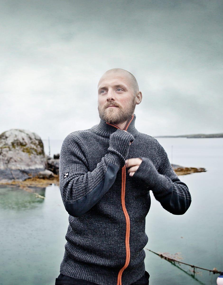 Varm og god Voss ulljakke med glidelås